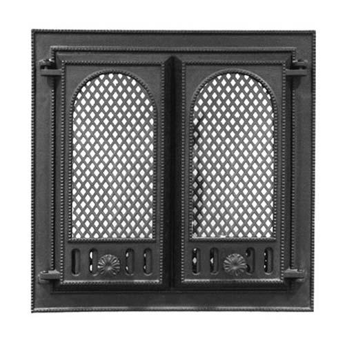 Каминная дверца НТТ 116 чугунная, застекленная
