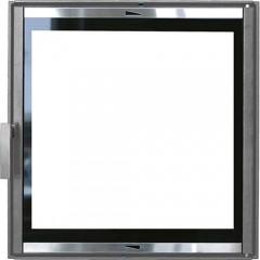 Каминная дверца чугунная со стеклом НТТ 601 серая