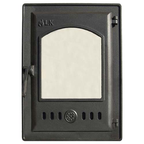 LK 310 Дверца топочная, чугунная, герметичная, стекло
