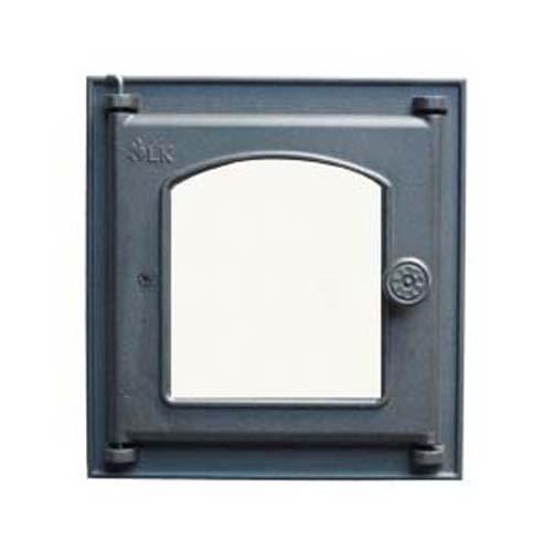 LK 361  Дверца топочная, чугунная, стекло