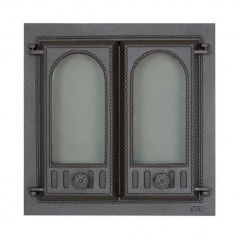 SVT 401 Дверка каминная, чугунная, 2-x створчатая, без экрана