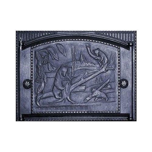 Дверка каминная топочная чугунная ДТК-2  «Хозяин тайги»