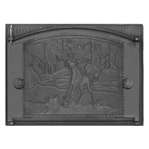 Дверка каминная топочная чугунная ДТК-2 «Природа»