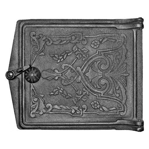 Дверка печная топочная чугунная ДТ-3 «Фантазия»-3-fantaziya