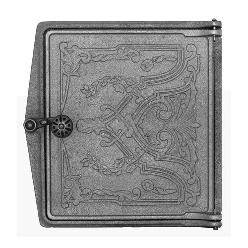 Дверка печная топочная чугунная ДТ-4 «Фантазия»
