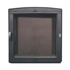 Каминная дверца чугунная со стеклом НТТ 501 ЧЕРНАЯ