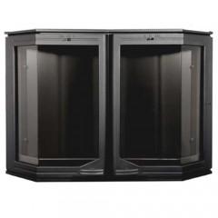 Каминная дверца Эркер, чугунная со стеклом НТТ 510 черная