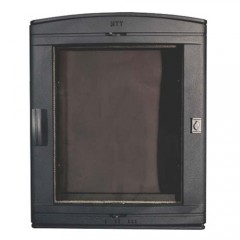 Каминная дверца чугунная со стеклом НТТ 526 ЧЕРНАЯ