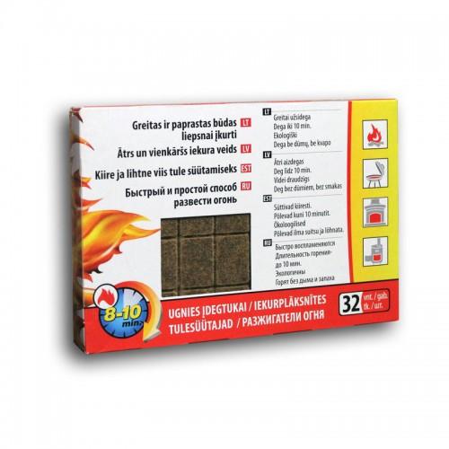 Разжигатели огня (32 шт в упаковке)
