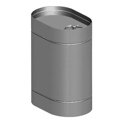 Вертикальный овальный бак под контур — 60л-min