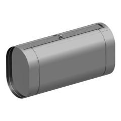 Горизонтальный бак овальный из нержавеющей стали, 90л. Под контур.