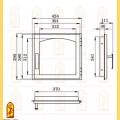 Дверь печная ДЕ 424-1А схема