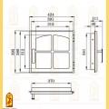 Дверь печная ДЕ 424-1К схема
