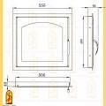 Дверь каминная ДК 555-1А схема