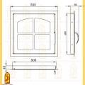 Дверь каминная ДК 555-1К схема