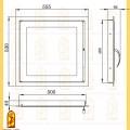 Дверь каминная ДК 555-1С схема