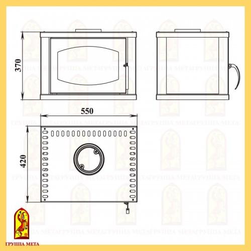 модуль  ДУХОВКА для печей Варта, Варта 3D схема