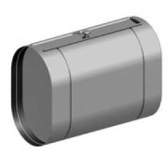 Горизонтальный бак овальный из нержавеющей стали, 60л. Под контур.