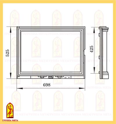 Дверь каминная ПАНОРАМА 700 схема