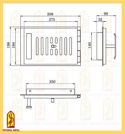 Поддувало печное ПП 308-1Р схема