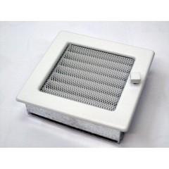 Вентиляционная решетка, с жалюзи - 170х170 мм, цвет белый, кремовый