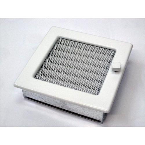 Вентиляционная решетка, с жалюзи — 170х170 мм, цвет белый, кремовый