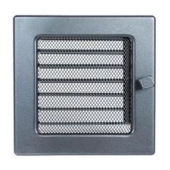 Вентиляционная решетка, с жалюзи - 170х170 мм, цвет графитовый