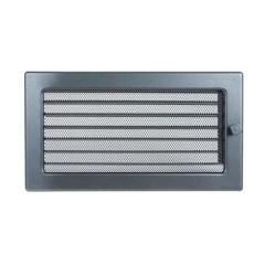 Вентиляционная решетка, с жалюзи - 170х300 мм, графит