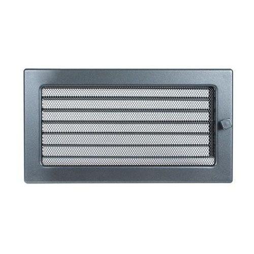 Вентиляционная решетка, с жалюзи — 170х300 мм, графит