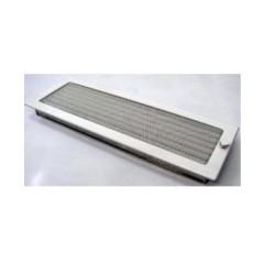 Вентиляционная решетка, с жалюзи - 170х480 мм, белый