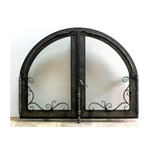 Дверка в камин со стеклом 600х700мм