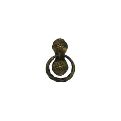 Ручка дверная с вертикальной накладкой 120х50мм диаметр кольца 60мм
