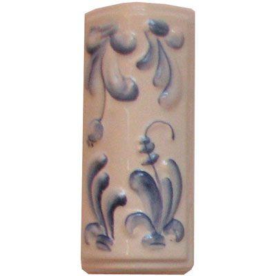 Элемент изразцовой плитки, уголок «Виньетки» гжель