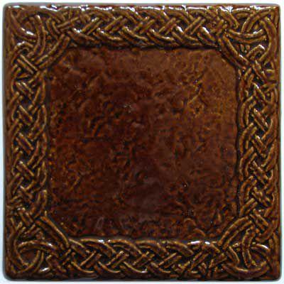 Изразец «Русь» коричневый №1