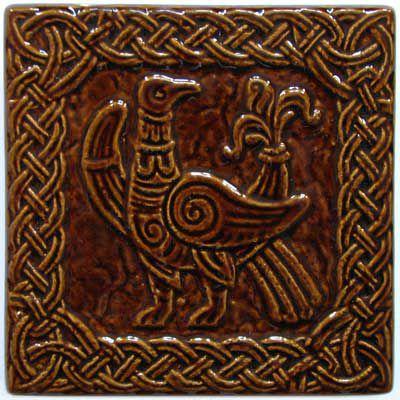 Изразец «Русь» коричневый №2