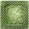 Изразец «Русь» зеленый №2