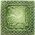 Изразец «Русь» зеленый №3