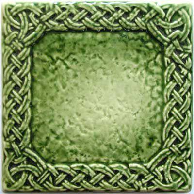 Изразец «Русь» зеленый №1