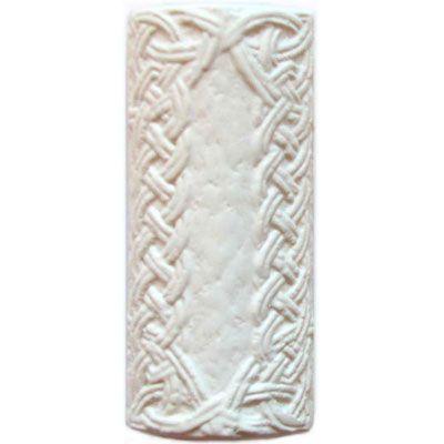 Элемент изразцовой плитки, уголок «Русь» белый