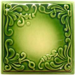 """Изразец """"Виньетка"""" зеленый"""