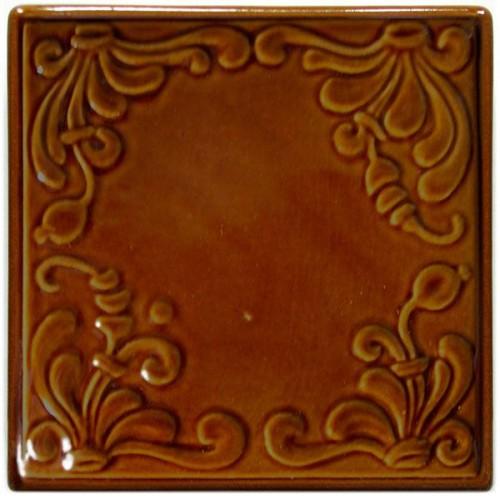 Изразец «Виньетка» коричневые