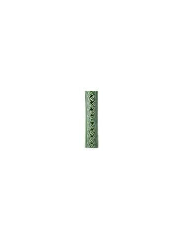 Элемент изразцовой плитки, поясок «Русь» зеленый
