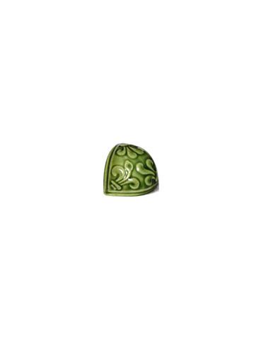 Элемент изразцовой плитки, чашка «Виньетки» зеленый