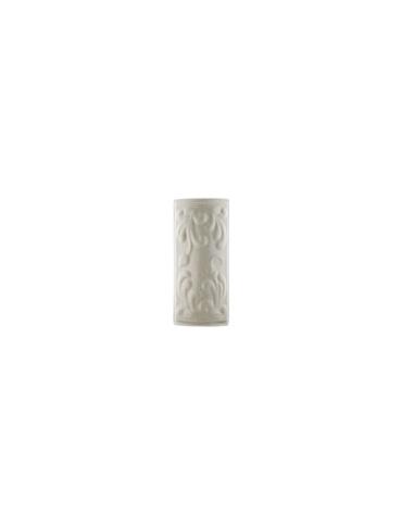 Элемент изразцовой плитки, уголок «Виньетки» белый