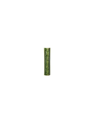 """Элемент изразцовой плитки, поясок """"Виньетки"""" зеленый"""