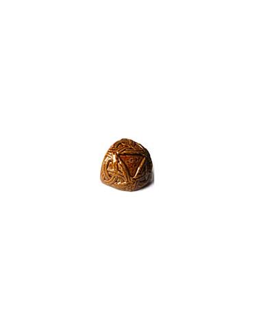 Элемент изразцовой плитки, чашка «Русь» коричневый