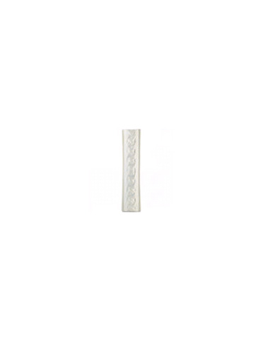 Элемент изразцовой плитки, поясок «Русь» белый