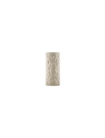 Элемент изразцовой плитки, уголок «Виньетки» слоновая кость