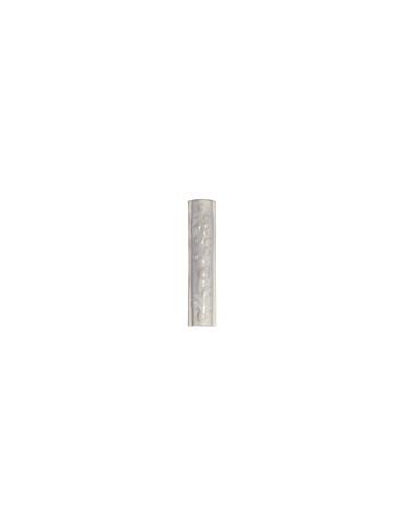 Элемент изразцовой плитки, поясок «Виньетки» белый
