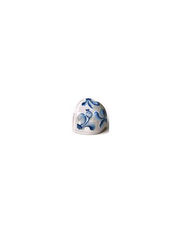 Элемент изразцовой плитки, чашка «Виньетки» гжель